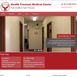 Medical centre website upgrade
